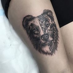 Cute Dog Tattoo | Venice Tattoo Art Designs