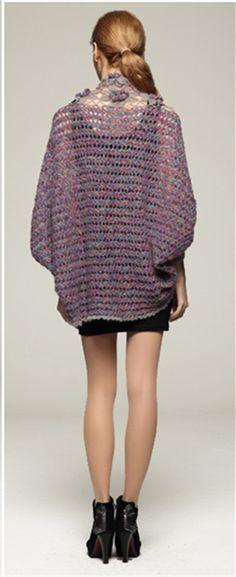 bdaeb1fdf30 Crochet Shrug Cardigan Sweater Elbow Sleeve Crop Top