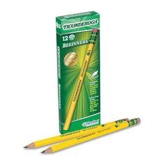 HB #2 Dozen by DIXON TICONDEROGA CO. Black Barrel Woodcase Pencil