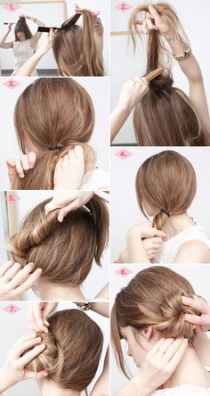 Here are some great easy and quick daily hairstyles that can give any woman a new look in about five minutes. These step by step hair tutorials to five-minute or less hairstyles can help you make more of your busy mornings. These fast looks will have you looking fabulous in5 minutesor less! Check it out …