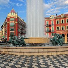 Place Massena Fountain by Inge Johnsson (Nice, France)