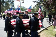 FILE -- California Army National Guard Funeral Honors Team members carry the casket of Major Gen (Ret.) Nhia Bee Lee on Aug. 27, 2018, at the Sierra Memorial Lawn in Nevada City, California. This is the first time U.S. honors were presented to a Hmong general who fought on the side of the U.S. during the Vietnam War. Used Aircraft, Army National Guard, Nevada City, Major General, Paratrooper, Casket, Vietnam War, Funeral, Wwii
