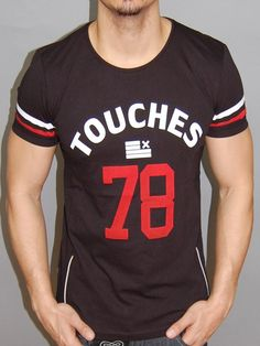 Nice body / muscle fitted shirts, with zippers on the side, stars, TOUCHES 78 printed on the front. LUCKY on the back. Please use the size chart to pick the correct size for you. * FORM / BODY / MUSCL