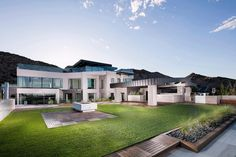 Outdoor terrace view of the $30 million estate.