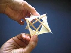Tensegrity unit with continous membrane. - YouTube
