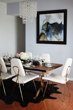 love those chairs // Style At Home: Jessica Marx Of Life's Little Gems