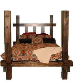 BED, SOLID WOOD BED, BIG BEDS, BIG FOOT BED, DARK WOOD BEDS, BEDROOM FURNITURE, BED DESIGNS