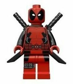 LEGO Deadpool Minifigure from Wolverine's Chopper Showdown 6866