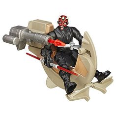 Action Figure Vehicles - Star Wars Hero Mashers Sith Speeder and Darth Maul *** Find out more about the great product at the image link.