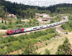 Electric locomotive 5614 with a special train with Atletico de Madrid supporters for the 2014 Champions League Final at Lisbon.