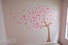 Cherry Blossom mural tutorial. Very simple, very modern and elegant.   By @Jen Yates from Epbot.