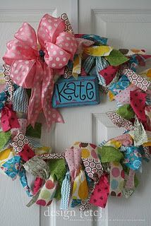 More ribbon wreath greatness...gonna do this for livs door!