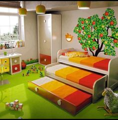 Triple bunks- I like this idea for sleepovers