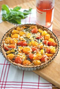 Tomato-Basil Tart