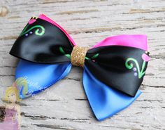 Anna hair bow Frozen hair bow by JaybeePepper on Etsy