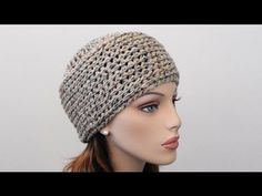 Crochet Beanie Hat by Crochet Hooks You - Simple & Easy (written & video walk through)