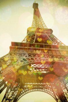 Eiffel Tower Fine Art Heart Bokeh Paris Je T'aime by AnnaDelores