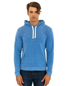 Unisex ECO Triblend Fleece Pullover Hoody: Our very popular pullover hoody made with our NEW ECO TRIBLEND fleece (made from post consumer plastic bottles). Eco Friendly, sustainable and proudly made in American. It will be your favorite sweatshirt. Made in USA.