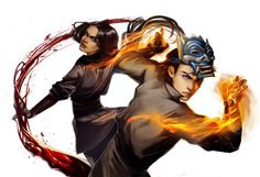 Aang And Korra Colors by FantasiesAndFathoms on DeviantArt Avatar Airbender, Avatar Aang, Zuko And Katara, Team Avatar, Blade Runner, Fanfiction, Prince Zuko, The Last Avatar, Nami One Piece