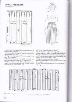 #ClippedOnIssuu from La tecnica dei modelli uomo donna 1 Pleated Skirt Pattern, Knife Pleated Skirt, Skirt Patterns Sewing, Clothing Patterns, Pattern Drafting Tutorials, Abaya Pattern, Fashion Dictionary, Modelista, Fashion Vocabulary