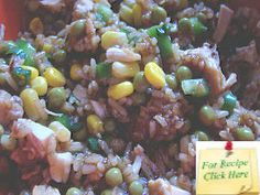This hearty Asian Rice Salad Recipe is open to substitutions for whatever is lingering in your frig - Its the Asian dressing that pulls it all together. Asian Dressing, Rice Salad Recipes, Asian Rice, Salads, Meals, Chicken, Vegetables, Food, Power Supply Meals