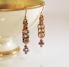 Loving these earring! Earrings Amethyst Color Crystal Rondelles by GallowayGirlHandmade, $14.00