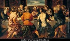 The Last Supper 7 - Jacopo Tintoretto (Robusti) - www.jacopotintoretto.org