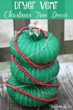 This Dryer Vent Christmas Tree Decor is a unique, easy and fun choice that everyone can make. A few dollars, simple tools and you can customize your own Dryer Vent Christmas Tree!