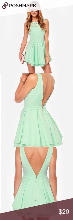 Selling this FLIRTING WITH DANGER CUTOUT MINT DRESS in my Poshmark closet! My username is: kimiaazizi. #shopmycloset #poshmark #fashion #shopping #style #forsale #Lulu's #Dresses & Skirts