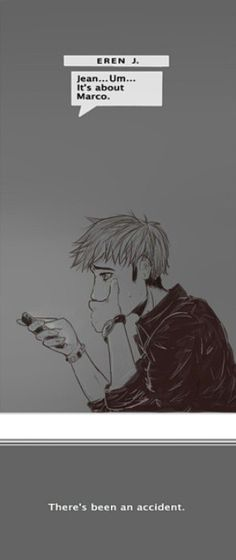 marco and jean | marco x jean | Tumblr|| It attack on titan they didn't have phones--of corse the DIDn't have phones