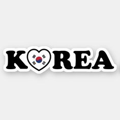 Shop Korea Love Heart Flag Sticker created by globetrotters. Pop Stickers, Tumblr Stickers, Printable Stickers, Kpop Logos, Korean Flag, Korean Stickers, Episode Backgrounds, Sad Anime Girl, Mom Jokes