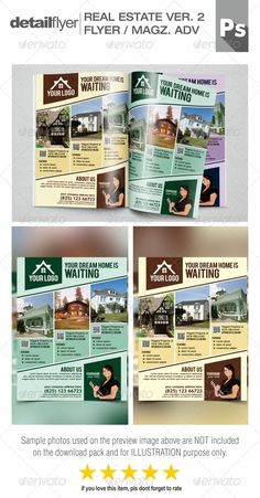 Real Estate Flyer Template By Graphicsauthor  Templates