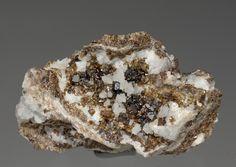 Sphalerite with Quartz and Calcite