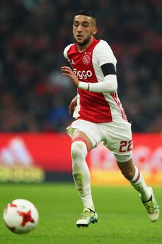 Hakim Ziyech of Ajax in action during the Eredivisie match between Ajax Amsterdam and ADO Den Haag held at Amsterdam Arena on January 29, 2017 in Amsterdam, Netherlands.