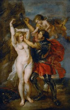 """Rubens, Peter Paul 1577–1640.  """"Perseus frees Andromeda"""",  c. 1639/40. Oil on canvas, 265 × 160cm."""