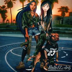 Pocahontas & Mulan - Thug Girls - Disney Trill Ratchet Princesses #disney #gangsta #compton