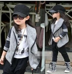 New Fashion Korea  children clothing girl coat collar kid thickening trench for girl overcoat free shipping CS056