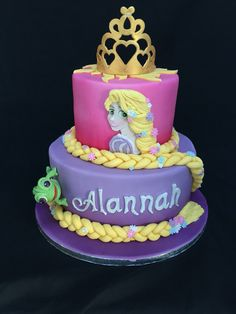Repunzel and pascal themed cake