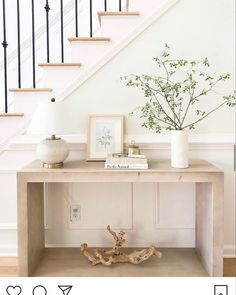 Console Table Styling, Entryway Console Table, Rustic Console Tables, Entryway Furniture, Foyer, Barn Living, My Living Room, Geometric Construction, Interior Design