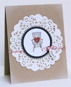 Mama Mo Stamps - simple doily die card!