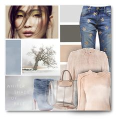 """""""Pastel winter"""" by milva-bg ❤ liked on Polyvore featuring Current/Elliott, Christian Louboutin, RED Valentino, River Island, Marni, women's clothing, women's fashion, women, female and woman"""