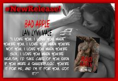 """►►►#NewRelease  ☠ #BadassBikerAlert ☠ ◄◄◄ Bad Apple (The Uncertain Saints MC, #4) by Lani Lynn Vale   ►►►BUY LINKS◄◄◄ ►Amazon: http://geni.us/pKSB ►iTunes: http://geni.us/grKtYVC ►B&N: http://geni.us/cnxTtOT ►Kobo: http://geni.us/7BaUdL6  ►►► BLURB◄◄◄ The road to hell is paved with good intentions…   Apple """"Core"""" Drew needs The Uncertain Saints MC like he needs air. He is barely making it through the day, and each one that goes by takes him closer and closer to hell. Literally, not f"""
