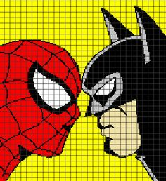 Batman Crochet Graphghan Pattern (Chart/Graph AND Row-by-Row Written Instructions) - 01 - House Interior Designs Graph Crochet, C2c Crochet, Filet Crochet, Afghan Patterns, Crochet Blanket Patterns, Knitting Charts, Knitting Patterns, Cross Stitch Charts, Cross Stitch Patterns