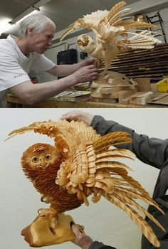 Incredible Wooden Chip Artwork by Sergey Bobkov http://www.designswan.com/archives/incredible-wooden-chip-artwork-by-sergey-bobkov.html#