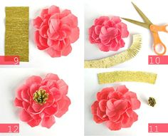 DIY Crepe Paper Flowers PHOTO SOURCE • OH MY! HANDMADE