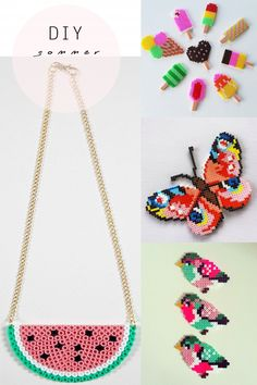 Kids Perler Necklaces