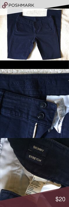 AEO Women's Skinny Stretch Twill Pants Sz 8 Long BRAND NEW w/o tags. Never worn! No trades please! American Eagle Outfitters Pants Skinny