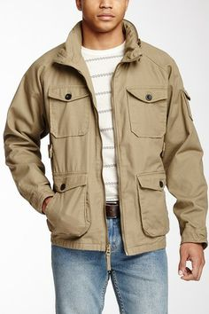 Burkman Bros Canvas Khaki Trekker Jacket