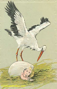 An Egg Has Hatched ~ 1911 New Baby Card
