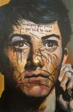 Dawn Mellor, Dustin Hoffman, 2010, Oil on canvas ©